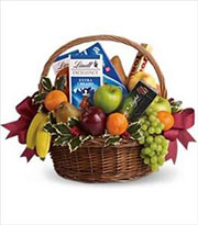 Fruit and Sweets Christmas Basket