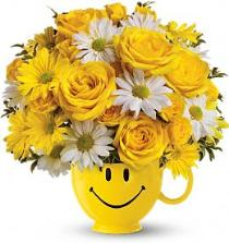 Photo of Teleflora's Be Happy Smile Mug Bouquet