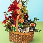 Floral Gourmet Basket