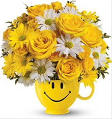 Teleflora's Be Happy Smile Mug Bouquet