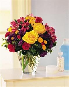 Brighten Your Day Flowers in Vase