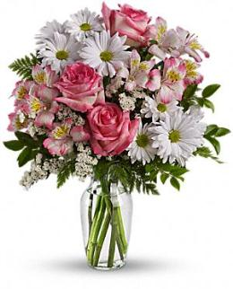 Spring flowers with Vase by Teleflora