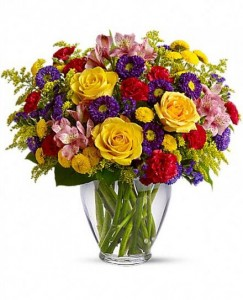 Brighten Your Day Flowers in Vase