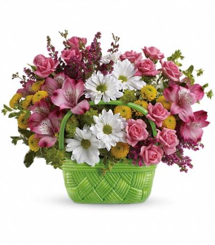 Basket Of Beauty Bouquet by Teleflora