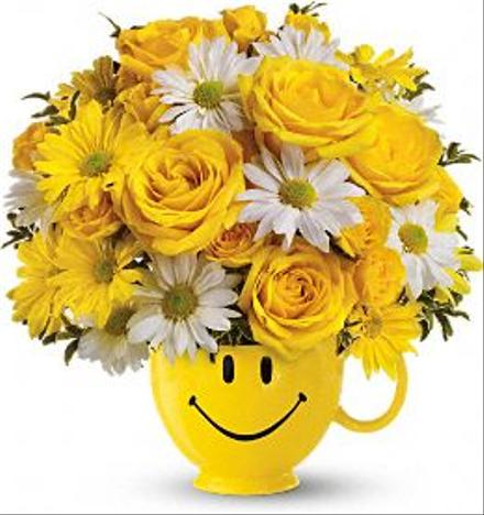 Be Happy Smile Mug by Teleflora - BF6392