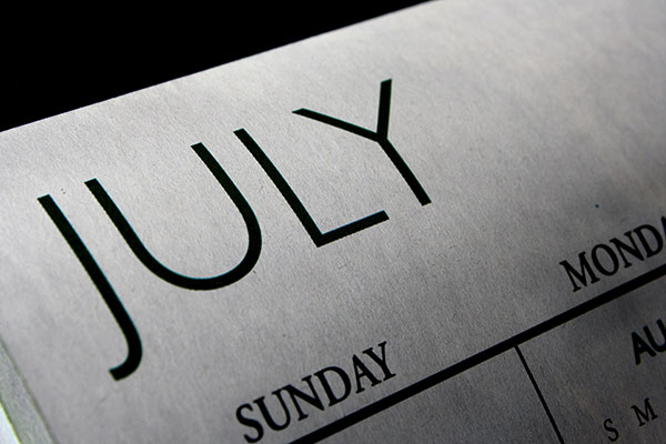 July Calendar photo