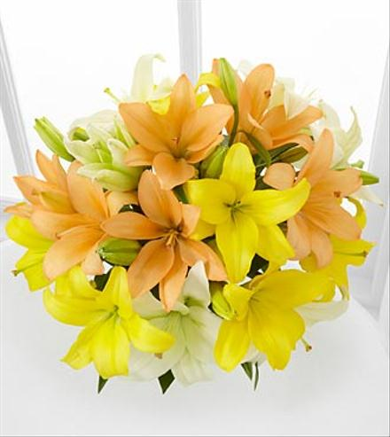 Sunny Days Ahead Asiatic Lily Bouquet - BF7490