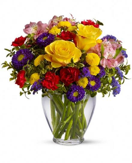 Brighten Your Day Flowers in Vase - BF4189