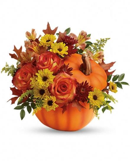 Warm Fall Wishes Pumpkin by Teleflora - BF6639