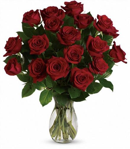 My True Love Vase with Long Stemmed Roses - BF4043
