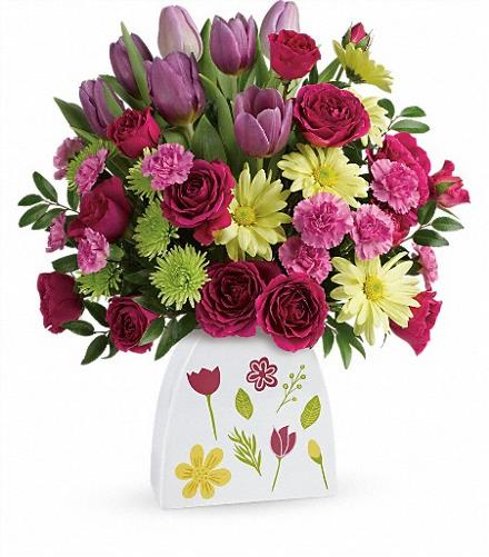 Make Their Daisies Bouquet in Vase - BF4070