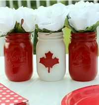 Canada Day Craft Mason Jars
