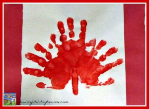 Canada Day craft idea Canadian Flag handprint