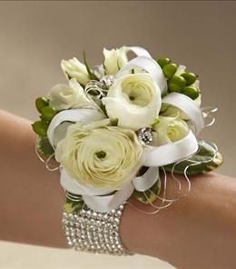 White Corsage Flowers Brant Florist Prom 2016