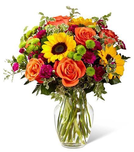 Color Craze Bouquet in Vase