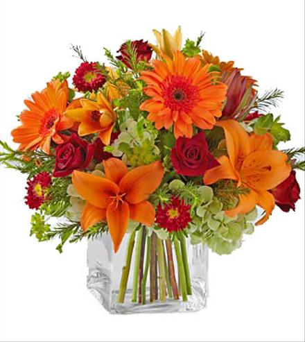 Fabulous Fall Bouquet in Vase