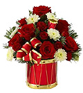 Photo of an FTD Christmas Floral Arrangement