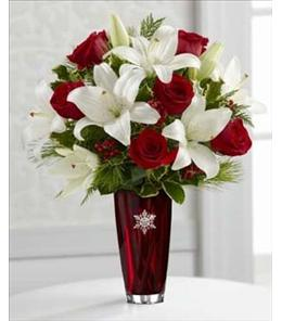 Photo of The FTD Holiday Celebrations Bouquet with Vase - 12-C1