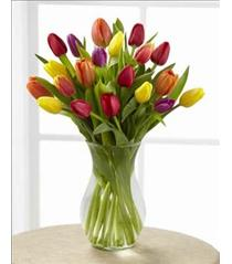 Photo of The FTD Bright Lights Tulip Vased  - B25-4837