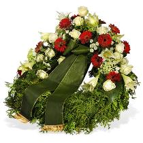 Photo of Wreath with Ribbon Florist Designed - WRR