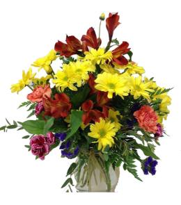 Photo of Mixed Fall Flowers in Vase - BF1167