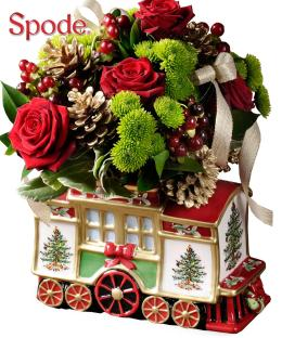 Photo of Spode Holiday Train Arrangement C123 with Roses  - C123