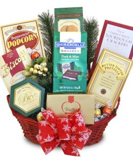 Photo of Hoiday Delights Gift Basket Gourmet Snacks  - C1216