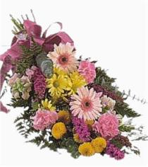 Photo of Hand Tied Gift Wrapped  Bouquet Includes Gerbera No Vase - CF2