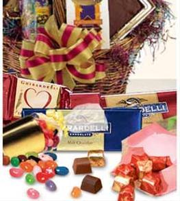 Photo of Candy and Chocolate Gift Basket - EO-6050