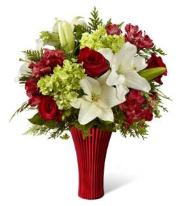 Photo of Holiday Celebrations Bouquet FTD with Vase C1 - 15-C1