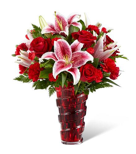 Photo of BF2094/17-V1d (Approx. 11 Stems - Vase Included)