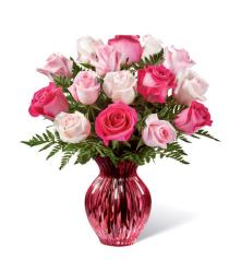Photo of Mother's Day Mixed Roses in Vase 16M1R - 16-M1R