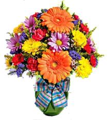 Photo of Thanks A Bunch Vase FTD Orange Gerbera Plus  - TAB