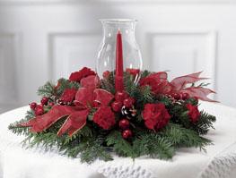 Photo of Crimson Glow Christmas Centerpiece FTD - B8-3430