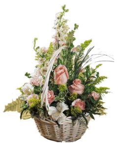 Photo of Blushing Beauty Basket of Flowers - C8-3023
