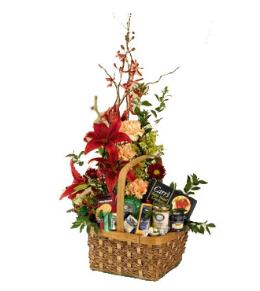 Photo of Floral Gourmet Basket       - C40-3788