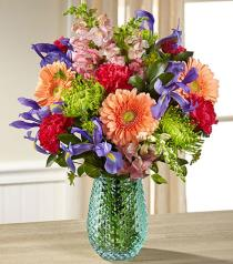 Photo of Joyful Moments in Vase with Iris - BG163
