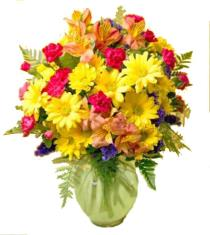 Photo of Fall Colors Best Wishes Flower Vase - C6-3067 