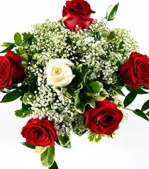 Photo of Six Roses Bouquet No Vase  - BF2942