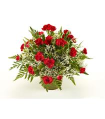 Photo of Miniature Carnations Arranged Color Choice  - BF2944