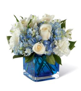 Photo of Peace & Light Hanukkah Bouquet in Cube  - B19-5143