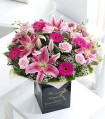 Photo of Extra Large Pink Radiance Hand-tied  - 500080