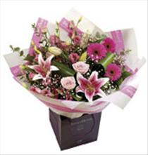 Photo of Pink Radiance Hand-tied Fresh Flowers - 500345