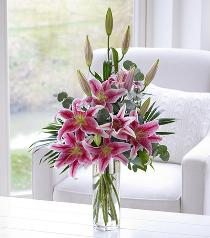 Photo of Pink Scented Lily Vase - 500535