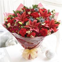 Photo of Large Christmas Bouquet Hand-tied - 500202