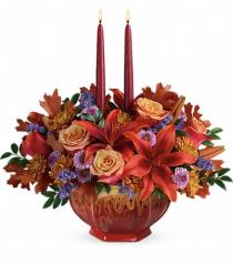 Photo of Teleflora's Golden Fall Centerpiece - T14T105