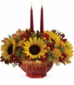 Photo of Teleflora's Thanksgiving Garden Centerpiece - T15T110