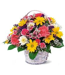 Photo of Simple Pleasures Flower Basket Teleflora - TF15-1