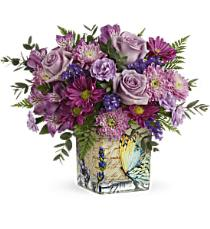 Photo of Happy Violets Bouquet Teleflora - T17M405