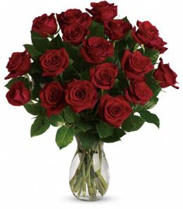 Photo of My True Love Vase with Long Stemmed Roses - TEV31-2